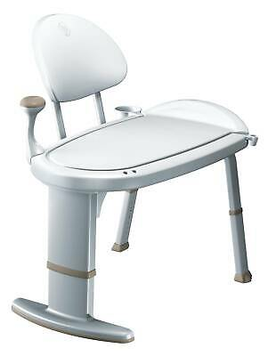 Moen DN7105 Glacier Adjustable Transfer Bench From The Home Care Collection
