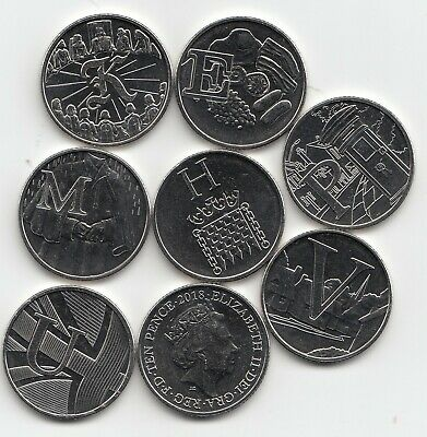 2018 A-Z 10p Coins Unc Royal Mint Alphabet A to Z Ten Pence - Choose Your Letter