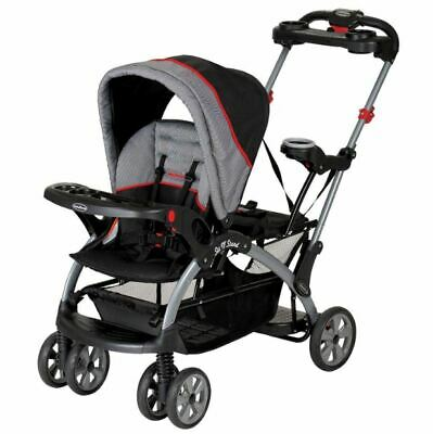 Double Stroller Infant Toddler Sit Stand Seat Chair Harness Buggy Pram Umbrella