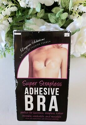 Lingerie Solutions Super Strapless Adhesive Bra Nude Size A B C NEW
