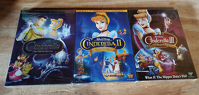 Cinderella 1-3 Movie Trilogy DVD Bundle Disney Brand New!