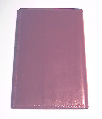 Vintage CRANBERRY Leather GUCCI NOTE BOOK Italy