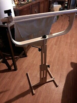 Embroidery Rack Needlework Stand Cross Stitch Frame Hoop Adjustable Sewing Large