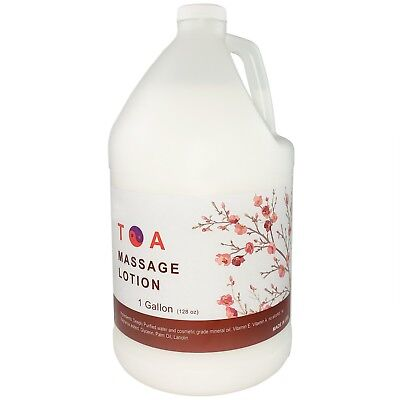 TOA Hydrating Body Unscented Massage Lotion 1 Gallon