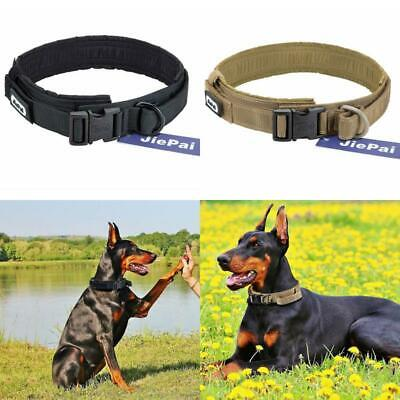 HEAVY DUTY Military Dog Collar Leash Handle Large metal Buckle