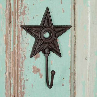 Architectural cast iron new rustic STAR wall hook