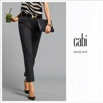 CAbi #5078 Go To Trouser Black Size 4 Work Career Cropped Ankle Pants