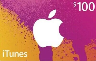 iTunes $100 Gift Card/Certificate for US APP  iTunes Store FAST Shipping emaildv