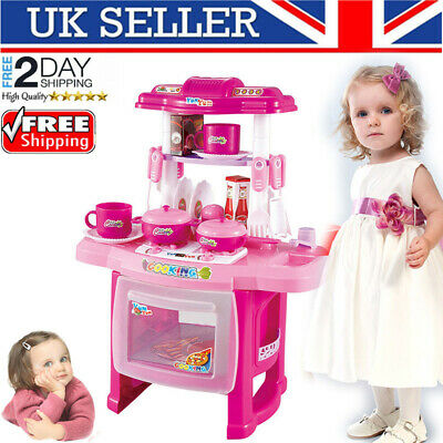 Childrens Kids Kitchen Cooking Cooker Role Pretend Toys Play Set Boys Gifts UK