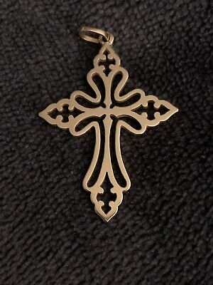 James Avery 14k Gold. St Cecilia cross pendant retired, Beautiful Cross, 4 Grams