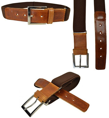 Junior / Childrens 5-15 Years Adjustable Elasticated Belt With Buckle / Brown