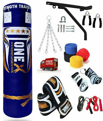 5ft Punching Heavy Filled Bag Boxing Training MMA Martial Arts Gym Kickboxing