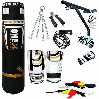 13Piece heavy Duty Filled Boxing Punching Bag Water Proof Set,Gloves Equipment