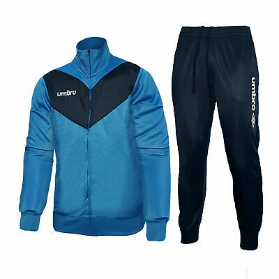 Umbro Tuta Full Zip - Art.30032 2 Pezzi Blu Taglie Disponibili S M L Xl Xxl