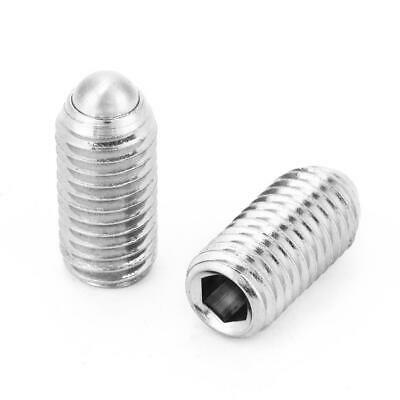 M12 Spring Hex Socket Ball Point Grub Set Screws Stainless Steel 10pcs