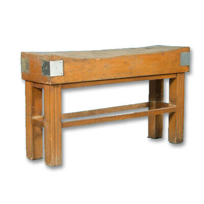 Early 20th Century Antique French Maple Butcher's Block