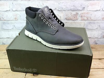 MEN TIMBERLAND BRADSTREET Chukka Grey Leather Ankle Boots