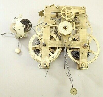 Antique En Welch Kitchen Clock Movement With Alarm Parts Repair