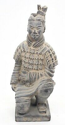Vintage Chinese TERRACOTTA WARRIOR Clay Soldier Statue Figurine RARE.      R#6