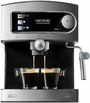 Cecotec Power Espresso 850W y 20 bares. Acero inoxidable.