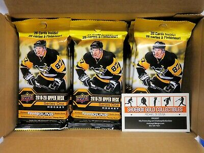 2019-20 UPPER DECK NHL Hockey, Series 1 Jumbo FAT PACK BOX (18 Packs)