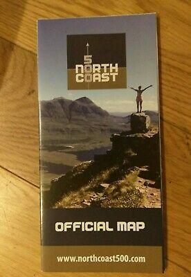 Official Map North Coast Route NC500 Scotland Road  NC 500