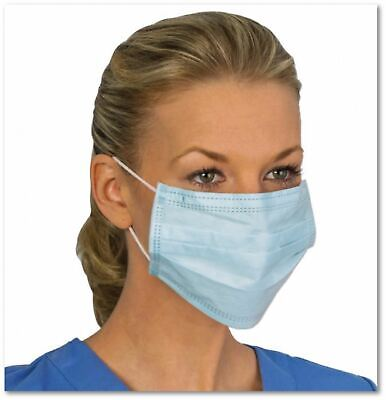 Disposable Face Mask Medical Surgical Dental Earloop Anti-Dust 3-Ply - 50 Box
