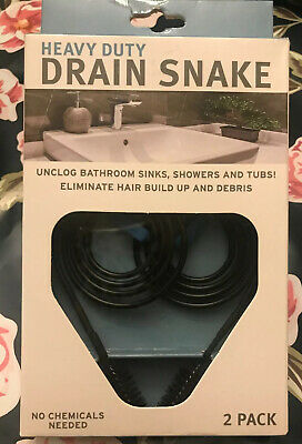 Drain Sink Cleaner Bathroom Unclog Sink Tub Toilet Brush Drain Snake 2pk Brush