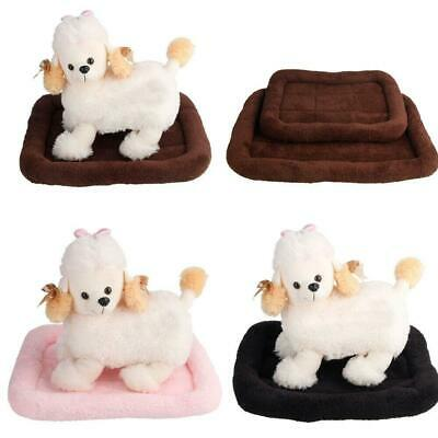 New Small Medium Soft Plush Dog Pet Cat Bed Warm Mat Crate Kennel Colorful