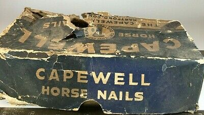 """Antique Capewell Horse Nails Hartford Conn.4.5Lbs (2"""" Long) Free Shipping"""