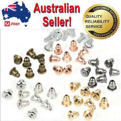 60pc Mixed Colour Earring plug stud stoppers findings post back backs backing...