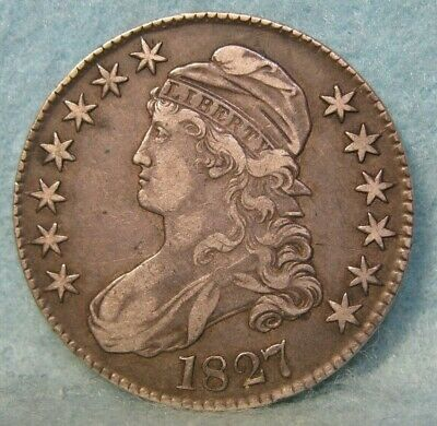 1827 Capped Bust Silver Half Dollar * United States Coin