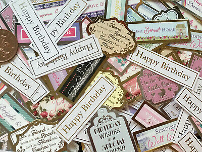 Card Making 30 X Mixed  Caption Banners //embellishment// Clearout//lucky Dip Bags