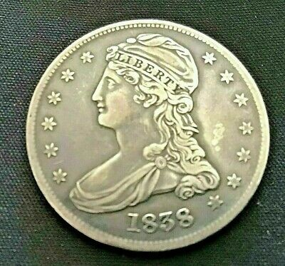 1838 CAPPED BUST HALF DOLLAR extra fine XF nice