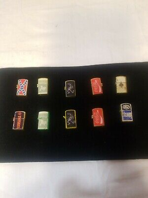 VINTAGE nice ones GUMBALL/DIME STORE MINI REAL WORKING LIGHTERS TOYS LOT of 10
