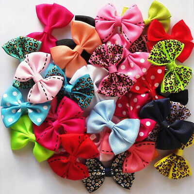AM_ 10Pcs Lovely Baby Toddler Girl Bowknot Dots Lacework Leopard Hair Clips Hair