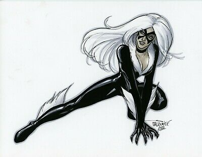 Sexy Black Cat Amazing Spider Man Original Art Scott Dalrymple