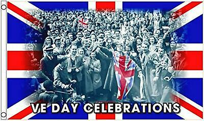 VE Day Flag Victory in Europe Union Jack 5' x 3'