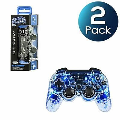 2x PDP Afterglow Wireless Controller for Sony Playstation 3 PS3 - Blue