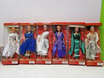 """Lot of 6 Vintage Greenbrier Jamie Winter Collection 11 1/2"""" Dolls  MIB"""