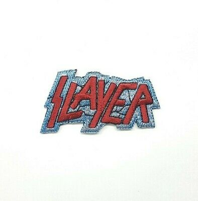 Slayer Heavy Thrash Metal Music Band Logo Iron On Embroidered Patch P-358