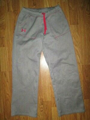 Girls UNDER ARMOUR athletic fleece lined sweat pants YLG L Lg