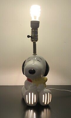 Vintage 1960S-70S Peanuts Snoopy Lamp And Night Light Excellent Condition Rare