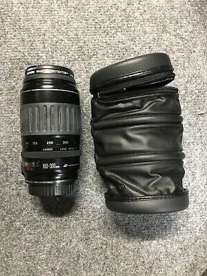 Canon Zoom EF lens 100-300mm Ultrasonic 1:4.5-5.6 With Case