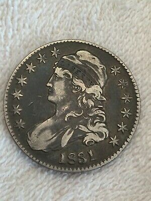 1831 Capped Bust Half Dollar 50C Silver Coin  ~ Nice Original Coin No Problems