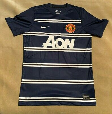 Manchester United Nike Dri-Fit Training Shirt Top Size Medium AON. Good Cond