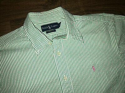 Nice Polo Ralph Lauren Classic Fit Long Sleeve Green White