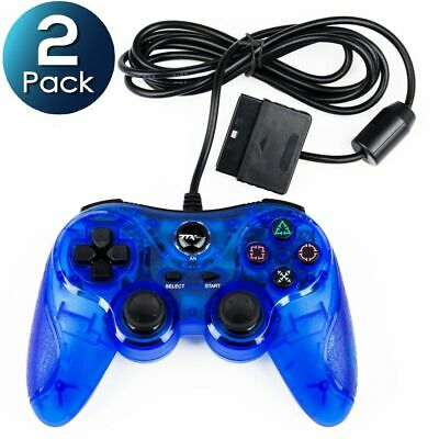 2x TTX Tech Analog Wired Controller For Sony PlayStation 2/PlayStation 1 PS2 PS1