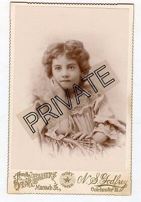 Cabinet Photo-Colchester Illinois-Adorable Older Girl-BERRY / CARR Family - Nice