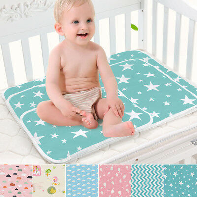 AM_ EE_ Toddler Infant Baby Changing Mat Cover Diaper Nappy Change Pad Waterproo
